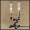 Vintage Rustic Industrial pipe table lights glass shade bottle pipe desk lamp art decor luminaria mesa abajur para sala fixture