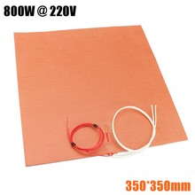 350X350mm 800W@220V 100K Thermistor Silicone Heater 3D Printer Heater Heatbed First Grade Quality Guaranteed
