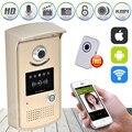 High Sensitive Wireless IP Wifi Doorbell Intercom Peephole Video Door Phone Camera + Indoor Door Bell Support IOS Android