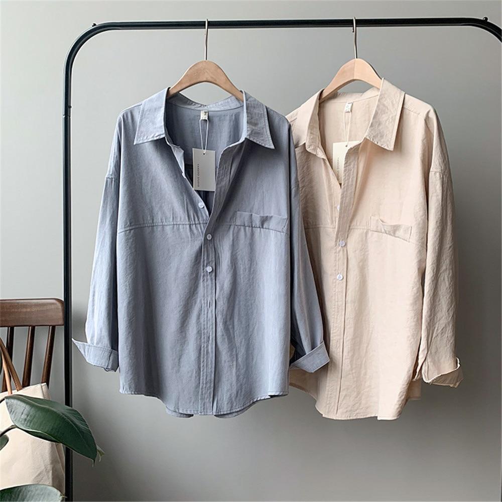 Vintage Women Blouse Shirts 2019 Autumn Korean Long Sleeve Women's Tops Blouses Blusas Roupa Feminina Tops High Quality Y6523 (19)