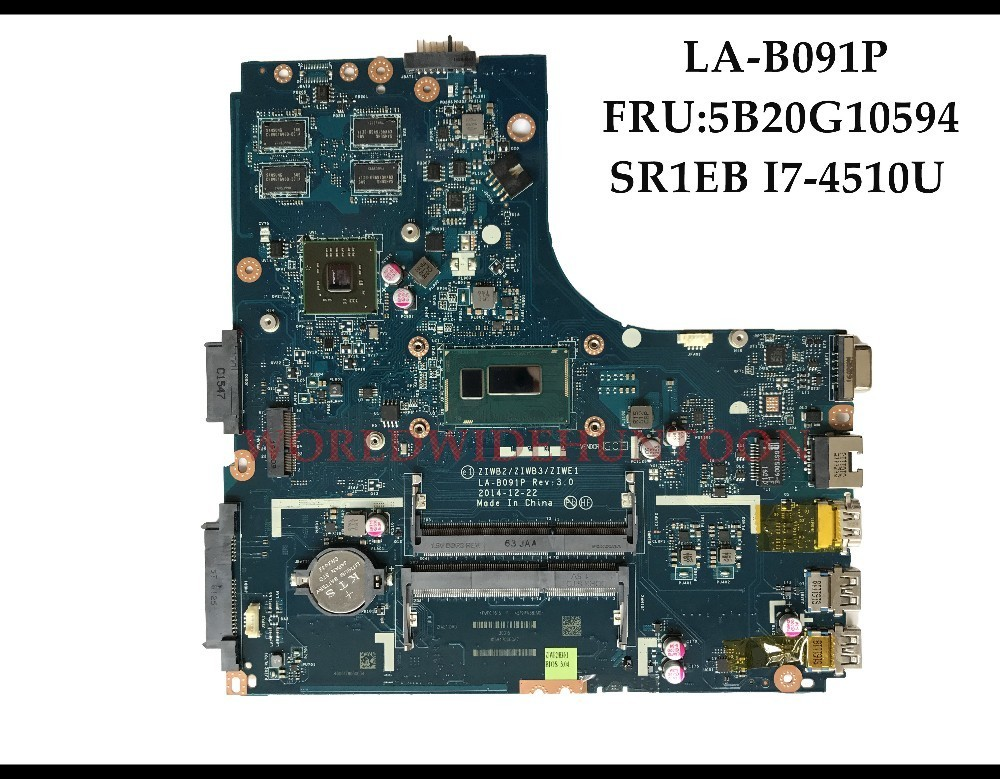 Computer Components High Quality 5b20g10594 For Lenovo Ideapad E40-70 Laptop Motherboard Ziwb2/ziwb3/ziwe1 La-b091p Sr1eb I7-4510u Ddr3l 2gb Tested Motherboards