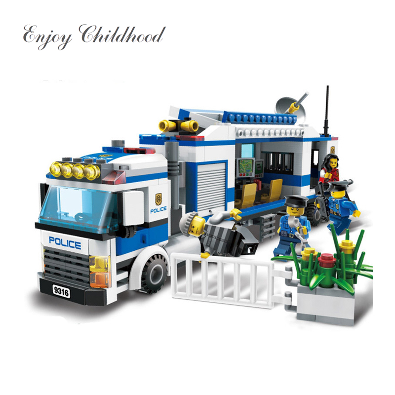 Kids Toys 407Pcs Urban City Police Commandos Figures Building Block Figures Toys Compatible With City 9316 Legoings
