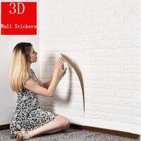 3/5/10 Self Adhesive 3D Wall Stickers Bedroom Decor Foam Brick Room Decor Wallpaper Wall Decor Living Wall Sticker For Kids Room