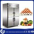 Коммерческое кухонное оборудование из нержавеющей стали 4 двери вертикальные морозильные камеры
