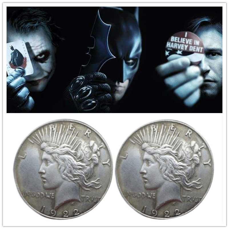 Two-Face/'s Double Sided Coin Set Batman Very Detailed Dark Knight