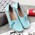 Nuevas Mujeres De Cuero Reales de Los Zapatos Mocasines Madre Mocasines Soft Ocio Pisos Femeninos de Conducción Calzado Casual Tamaño 34-44 En 19 Colores