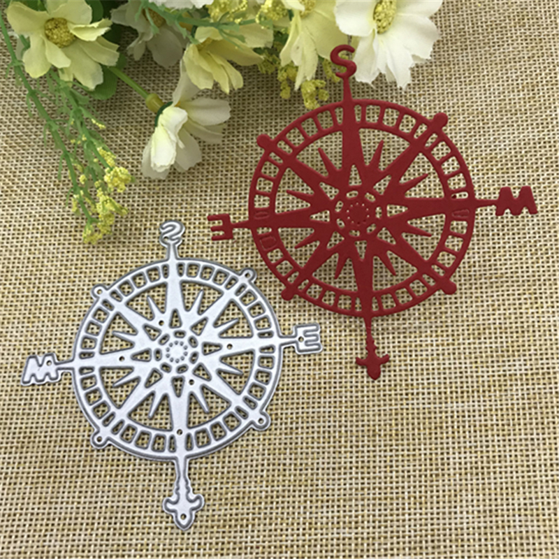 Compass Shapes Metal Cutting Dies Stencil Scrapbooking Photo Album Card Paper Embossing Craft DIY