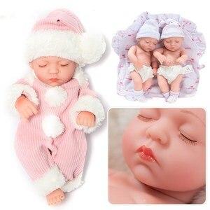 Image 3 - 10 дюймовые силиконовые куклы Reborn, реалистичные Мини куклы, реалистичные детские игрушки Reborn, подарок для ванной