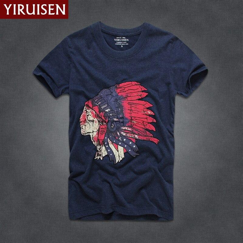 Мужские футболки, модные, YiRuiSen, брендовая мужская футболка с коротким рукавом, мужская повседневная футболка из хлопка, топы, Camisetas Hombre Camisa - Цвет: 6833