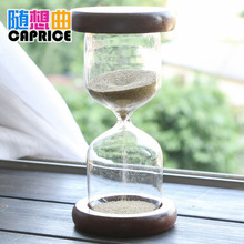 New style 2 minutes golden wooden hourglass, creative home craft decoration children brushing timer