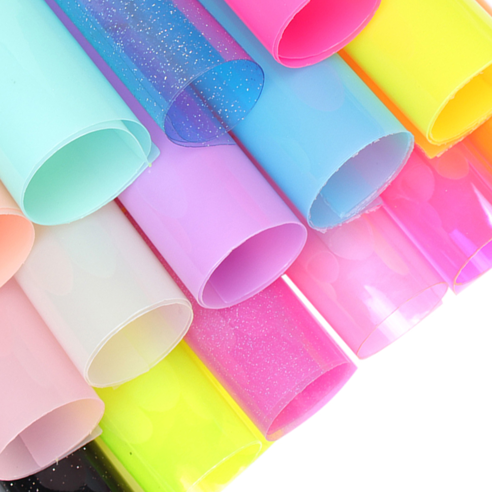22*30cm Jelly Synthetic Leather Fabric Transparent PVC Vinyl