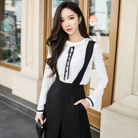 Original Shirt Female 2017 New Spring Autumn Fashion Sweet Vintage Lady Ruffled Collar Blouse Women Wholesale