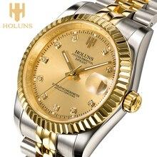 Reloj de marca holuns 2016, calidad, negocio, reloj mecánico a prueba de agua de acero inoxidable, exclusivo, edición limitada, circulación original auténtica