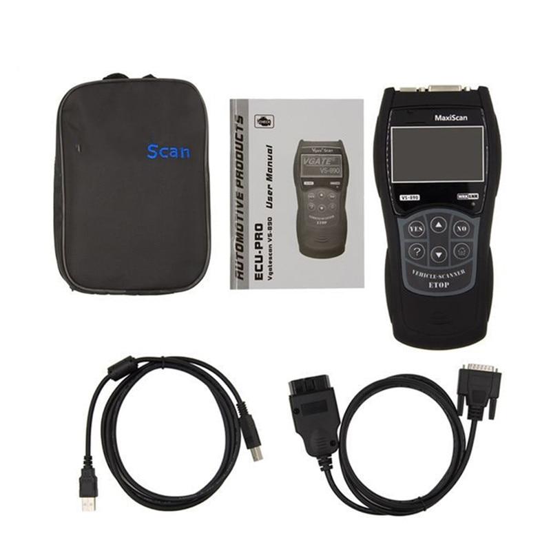 Image 2 - Auto Scantool MaxiScan Engine Fault OBD2 EOBD JOBD Car Code Reader VS 890 Diagnostic Scanner Tool Multi Language VS 890