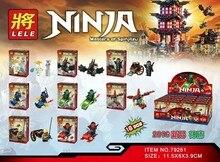 LELE 79261 Ninja Spinjitzu Temple Bricks Building Block Minifigue Toys Kid Gift Compatible Legoe