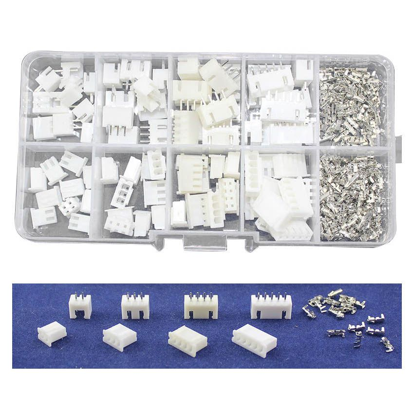 JFBL Hot 40 sets Kit in box 2p 3p 4p 5 pin 2.54mm Pitch Terminal / Housing / Pin Header Connector Wire Connectors Adaptor XH K