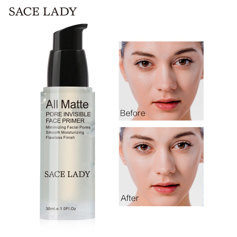 SACE LADY Face Primer Base Makeup Natural Matte Make Up Foundation Primer Pores Invisible Lasting Facial Oil-control Cosmetic