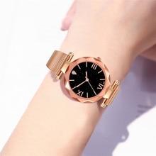 44e2283b0c8e De las mujeres de la moda lujo relojes de acero inoxidable de cuarzo reloj de  pulsera