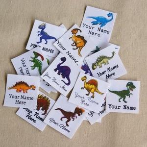 Image 1 - Étiquettes avec logo personnalisées avec nom pour enfants, 96 pièces