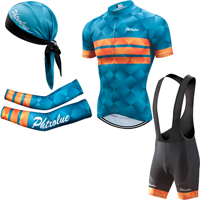Image 2 - Phtxolue Summer Cycling Set Men Bike Clothing Bicycle Wear  Maillot Ropa Ciclismo Short Sleeve Cycling Jersey SetsCycling Sets   -