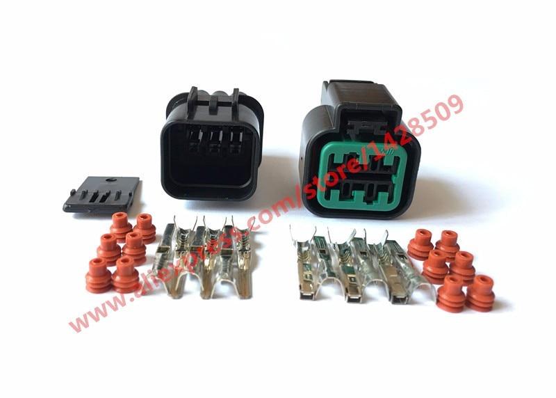 5 Set KUM 6 Pin PB625-06027 Female And Male Automotive Waterproof Plastic Electronic Housing Connector Plug