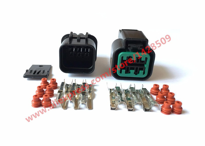 5 Set <font><b>KUM</b></font> 6 Pin PB625-06027 Female And Male Automotive Waterproof Plastic Electronic Housing <font><b>Connector</b></font> Plug image