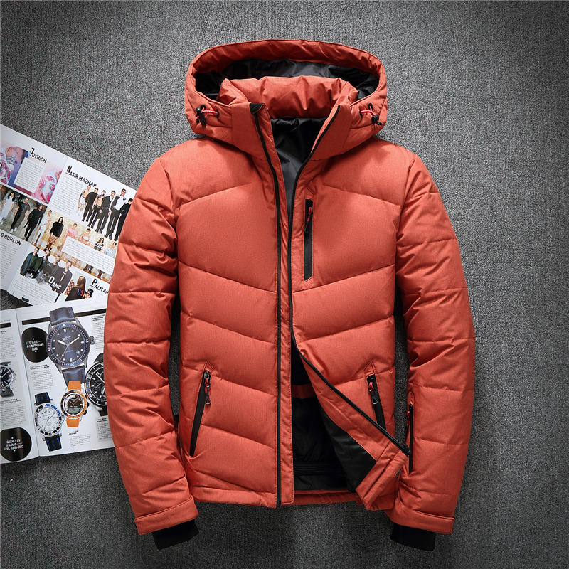 Sa New Mens Casual Jacket Lightweight Autumn Winter White Duck Down Windbreaker Overcoat Parka Warm Coat For Man Casual Clothes Down Jackets