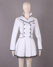 Rwby weiss schnee temporada 2 blanco lolita dress anime cosplay costume