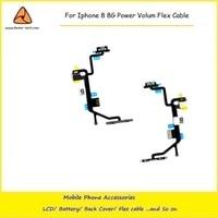 5 CÁI/LỐC New Power On/Off Chuyển Đổi Nút Điều Khiển Khối Lượng Nút Flex Cable Ribbon Cho iPhone 8 Thay Thế Sửa Chữa bộ phận ship miễn phí