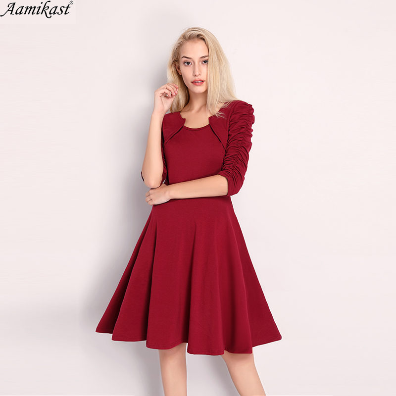 bc4b7db4a9 Aamikast 2018 Sexy o-cuello A-Line mujeres vestido de verano elegante  vestidos de