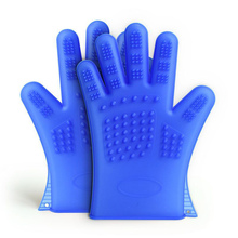 1pc Pet Hair Comb Silicone Bath Brush Glove Gentle Efficient Cleaning Bath Massage Pet Grooming Dog Cat Supplies Pet Accessories practical pet double sided dog cat bath hair massage brush handle comb pet hair cleaning pet cat comb dogs pet cleaning tools