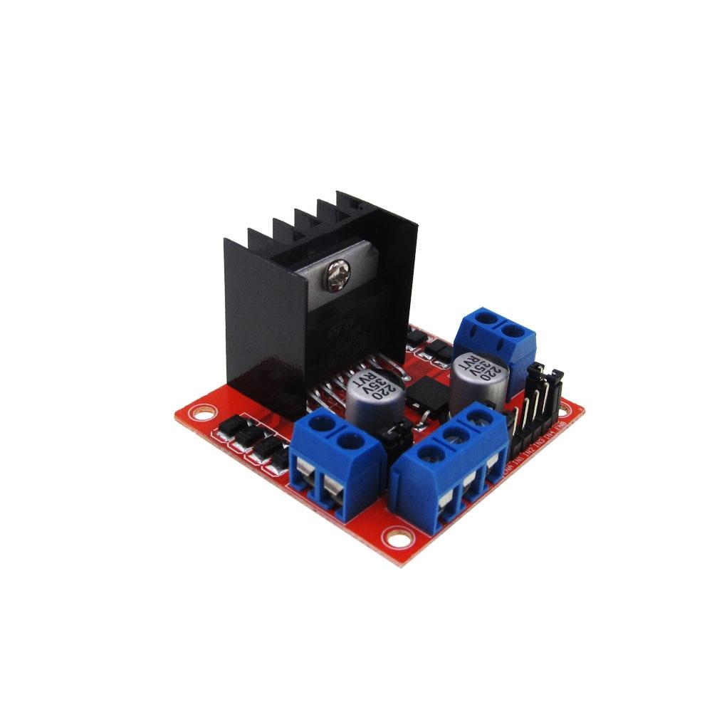 HAILANGNIAO 10pcs/lot L298N motor driver board module L298 for arduino stepper motor smart car robot nema24 3nm 425oz in integrated closed loop stepper motor with driver 36vdc jmc ihss60 36 30