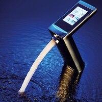 JMKWS роскошный сенсорный экран термостат смесители для раковин ванн умный дисплей поток воды и температура сенсорный умывальник смеситель э