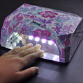 A la Venta 36 W LED Secador de Uñas de Luz Blanca Forma De Diamante LED Lámparas de Curado UV Gel 2016 Nuevo Popular Gel Esmalte de Uñas de Secado herramientas