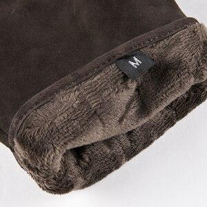 Image 5 - Gors جديد الشتاء طويل جلد طبيعي قفازات الرجال الجلد المدبوغ الأسود الدافئة قفازات شاشة لمس العلامة التجارية الماعز قفازات Luvas GSM023