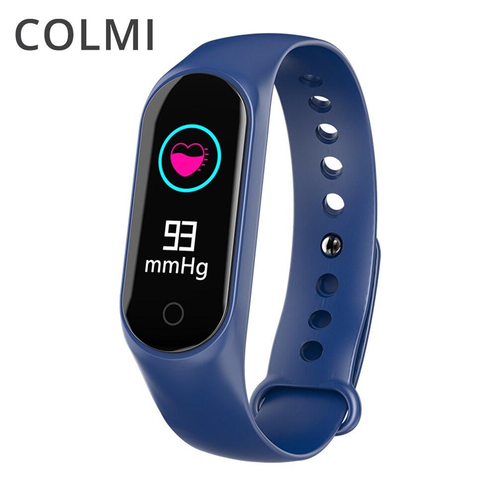 COLMI M3S IPS Tela do Monitor de Pressão Arterial e Freqüência Cardíaca Pedômetro de Fitness Rastreador IP67 SmartBand Para Android IOS Telefone À Prova D' Água
