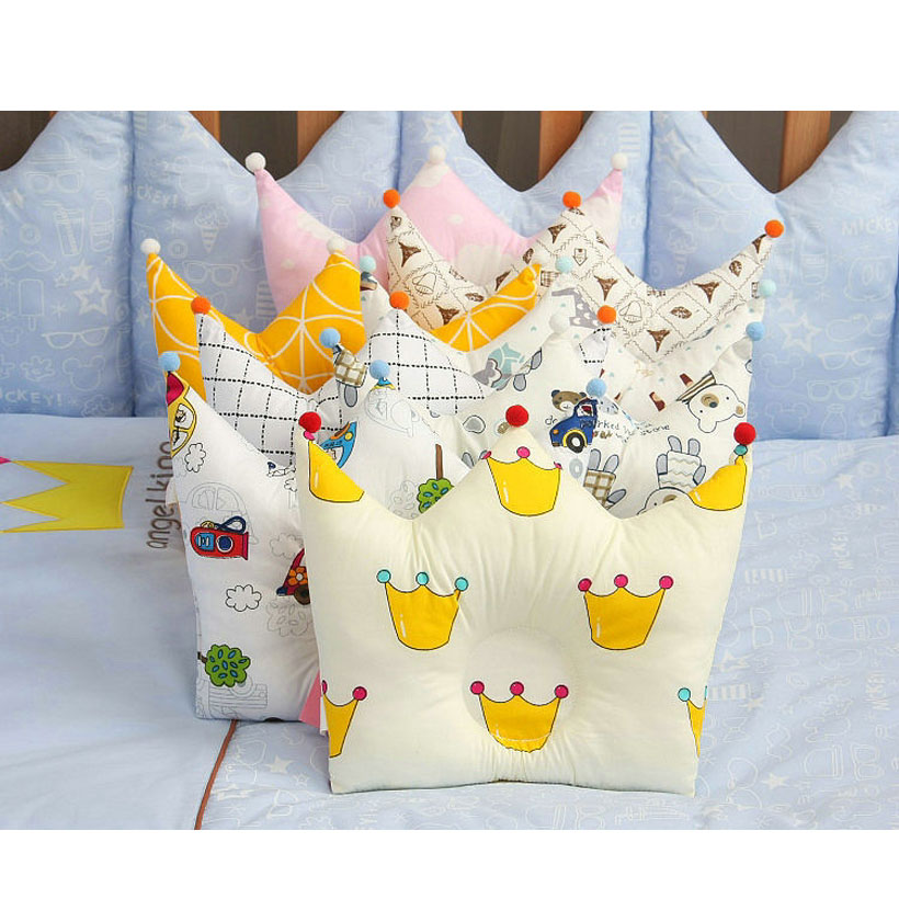 Baby Pillows Babykamer Decoratie Anti Flat Head Nursing Pillow For Infant Crown Shape Bagy Pillow For 0-2 Years Kids Pillows