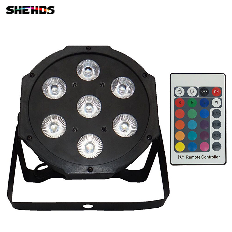 Wireless remote control LED Par 7x12W RGBW 4IN1 LED Wash Light Stage Uplighting No Noise Remote control Free shipping 6pieces dhl free shipping super bright 38leds rgbw remote control waterproof outdoor wireless glowing module led