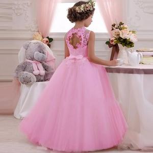 Image 5 - 2020 فستان حفلات بناتي أنيق أبيض وصيفة العروس فستان الأميرة للأطفال فساتين للبنات ملابس الأطفال فستان الزفاف 10 12 سنة