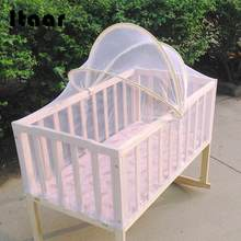 Baby Bed Tent Infant Canopy Folding Anti Mosquito Net Toddlers Crib Cot Netting Crib Netting(China)
