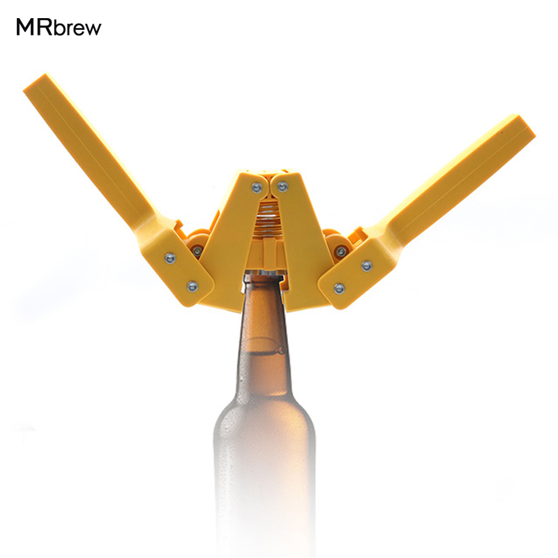 New Yellow Manual beer bottle Capper for Home Brew Beer crown caps on reusable glass bottles Top quality