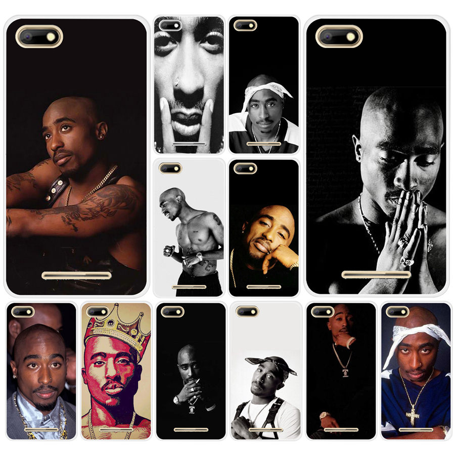 01df 2pac Tupac Shakur Hard Transparent Tpu Silicone Case Cover For Bq Strike 5020 Bq Aquaris X X5 Plus