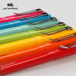 Image 3 - Jinhao rollerball pen luxury 599 six color business metal ballpoint pen tip flat pen clip 0.7mm black refill Can customize LOGO