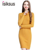 Isiksus 2018 White Turtleneck Knitted Autumn Women Pullover Sweater Shrug Long Sleeve Bodycon Female Jumper for Girls SW008