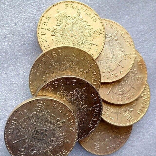 Frankreich Ein Satz Von 1855 1859 A Bb 8 Stücke 100 Franken