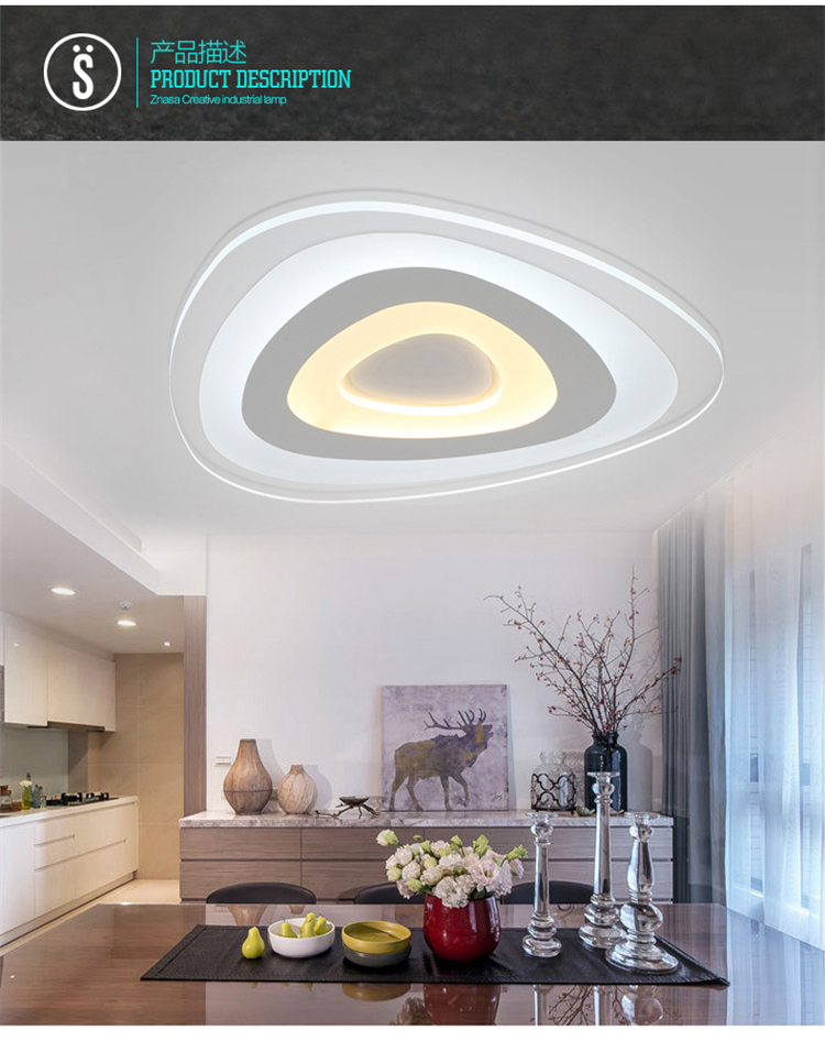 Remote control living room bedroom modern led ceiling lights luminarias para sala dimming led ceiling lamp rectangle new white acrylic modern led living room bedroom kitchen home deco ceiling lights luminarias para sala ceiling lamp