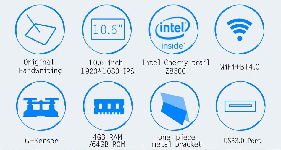 Jumper EZpad 5SE tablet PC 10.6\'\' Windows 10 IPS 1920 x1080 Intel Cherry Trail Z8300 4GB 64GB HDMI BT WiFi windows tablet laptop c