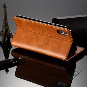 Image 2 - 磁気フリップ革財布ケース Apple の Iphone Xs Max X Xr 8 7 6 6s プラスフォリオカバースタンド機能カードスロットクレジットカード