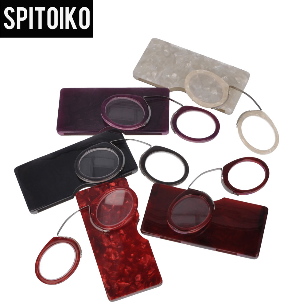 SPITOIKO  Mini Reading Glasses Portable Colorful Presbyopia +100~+400 - Apparel Accessories - Photo 1