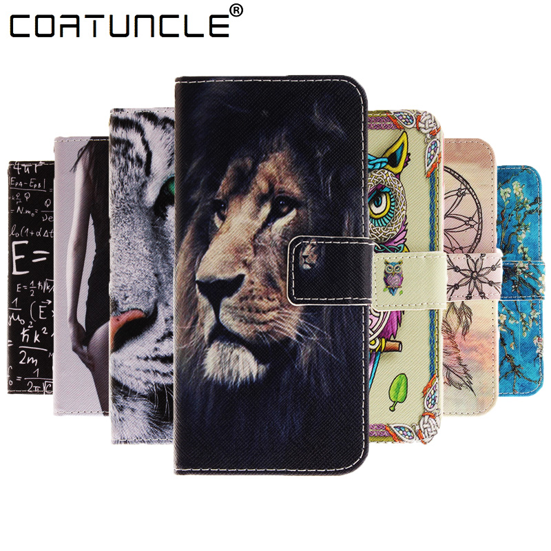 Galleria fotografica Flip PU Leather Phone Cases Wallet Cover For Coque Samsung Galaxy Note 3 Note 4 S4 S4 MINI S3 S3 MINI S5 S5 MINI S6 S6 Edge Case